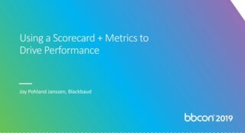 White Paper: Using a Scorecard + Metrics to Drive Performance
