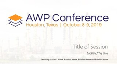 Scalable AWP Slides - AWP Conference, 2019