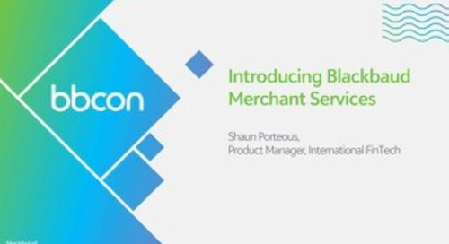 Blackbaud Merchant Services Introductory Session