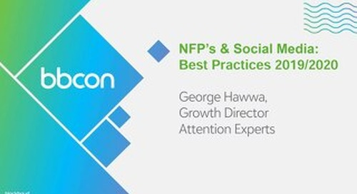 Masterclass: NFP's & Social Media: 2019 Best Practices