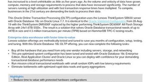 Lenovo Database Configuration for Oracle Database 18c