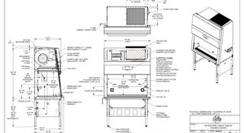 [Drawing] LabGard NU-545-400E Class II Microbiological Safety Cabinet (230V)