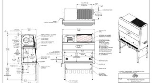 [Drawing] LabGard NU-545-500E Class II Microbiological Safety Cabinet (230V)