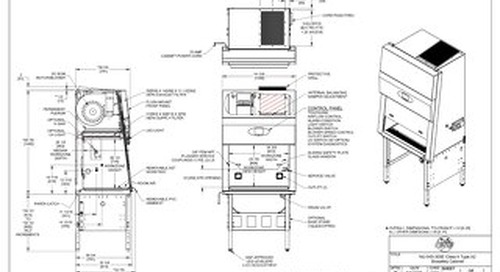 [Drawing] LabGard NU-545-300E Class II Microbiological Safety Cabinet (230V)