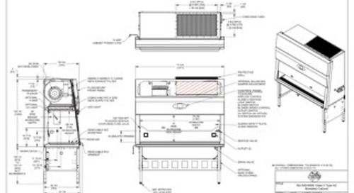 [Drawing] LabGard NU-545-600E Class II Microbiological Safety Cabinet (230V)