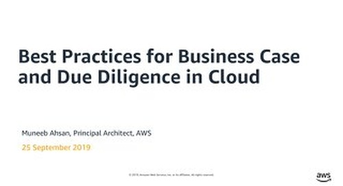 Best Practices for Business Case and Due Diligence in Cloud