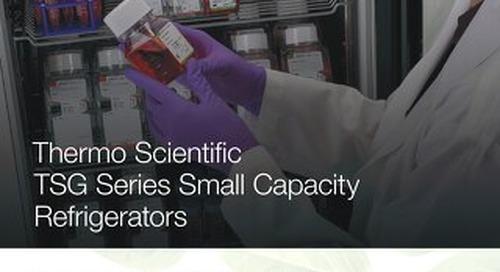 TSG Small Capacity Refrigerators Brochure