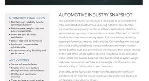 VxWorks for Automotive Solution Brief