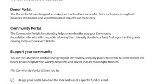 Donor and Community Portal