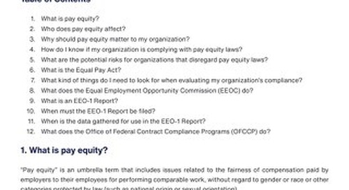 Pay Equity FAQ