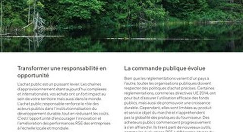 Brochure : Pour des achats publics responsables