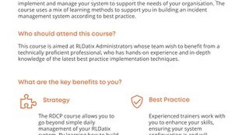 RLDatix Certified Professional
