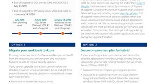 Windows and SQL Server Extended Security Updates
