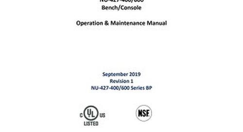 [Manual] LabGard NU-427 Series BP Class II, Type B1 Biosafety Cabinet (115V)
