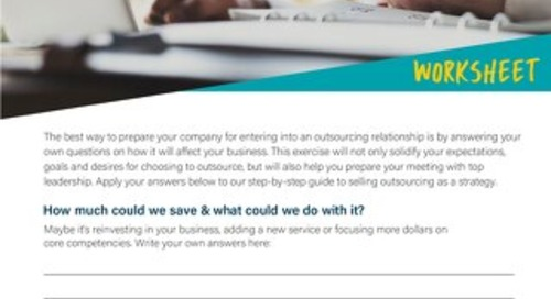 [Worksheet] Apply Outsourcing to Your Organization