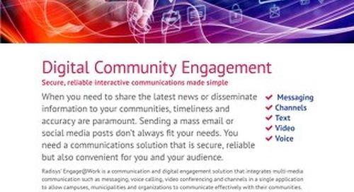 Radisys Engage@Work - Community Engagement