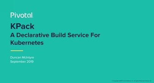 Kpack, A Declarative Build Service For Kubernetes, Duncan McIntyre