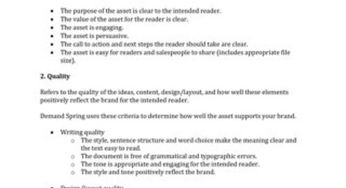 Content Audit Methodology