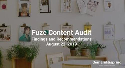 Fuze_Content Audit_August 22