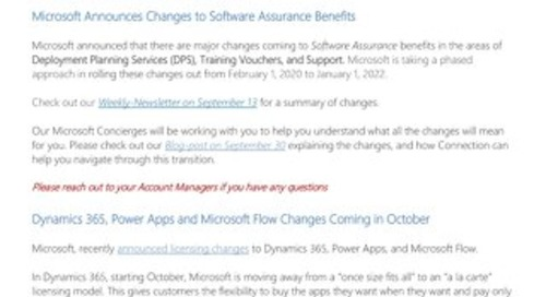 Connections Microsoft Center of Excellence Newsletter - October 2019
