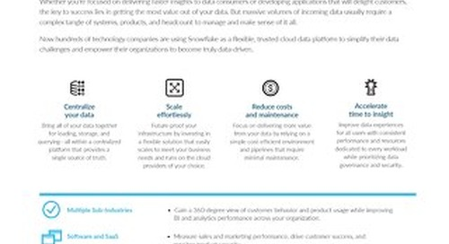 The Cloud Data Warehouse Built for Technology and Telecommunications