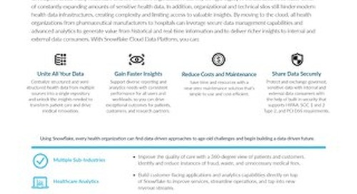 The Data Warehouse Built For Healthcare And Life Sciences