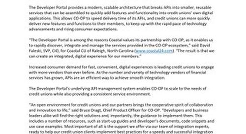 Developer Portal Press Release