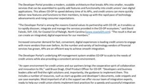 Developer Portal Press Release
