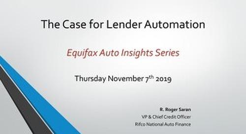 Equifax Auto Insights: Roger Saran