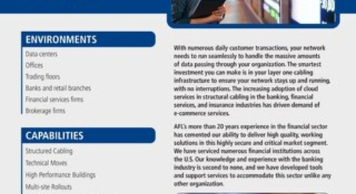 AFL Service Solutions - Financial Services Project Snapshot