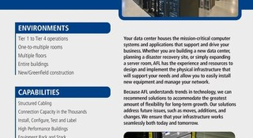 AFL Service Solutions - Data Center Project Snapshot