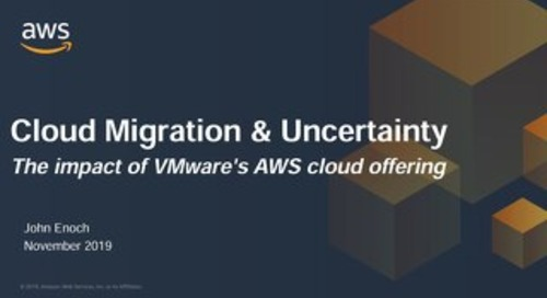 The impact of VMware's AWS cloud offering