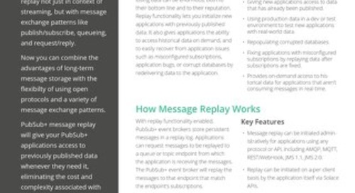 Message Replay Datasheet