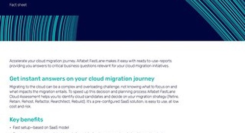 Alfabet FastLane –Cloud Assessment