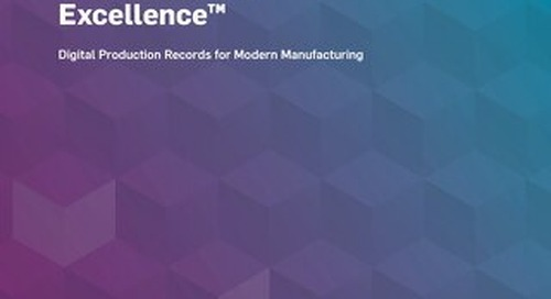 MasterControl Manufacturing Excellence™ Solution Overview