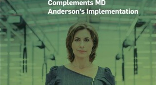 On-Site Training Complements MD Anderson's Implementation