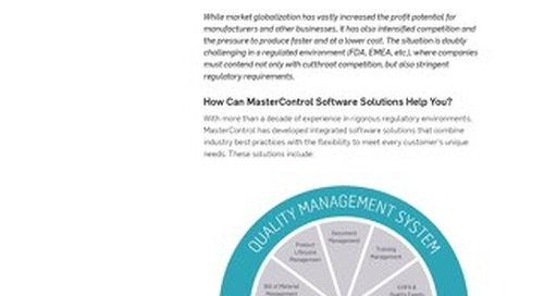 MasterControl™ Solutions Overview
