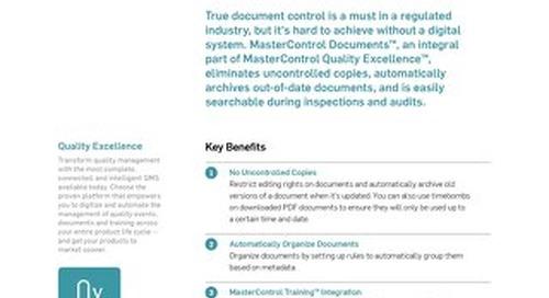 MasterControl Documents™