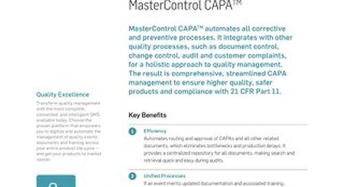 MasterControl CAPA™