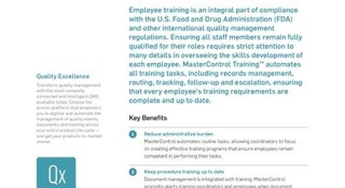 MasterControl Training™