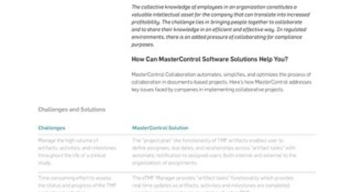 MasterControl Collaboration™