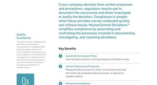 MasterControl Deviations™