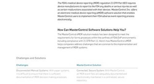MasterControl eMDR™