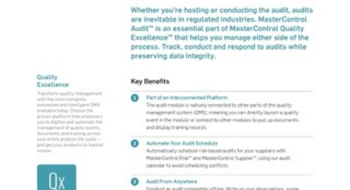 MasterControl Audit™