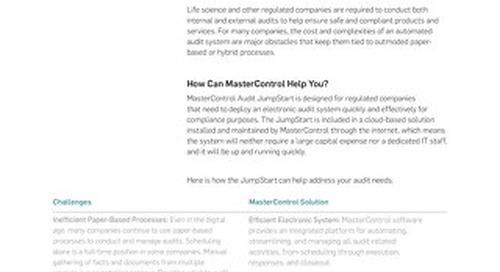 MasterControl Audit JumpStart™