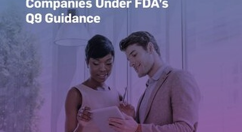 Risk Management for Pharmaceutical Companies Under FDA's Q9 Guidance