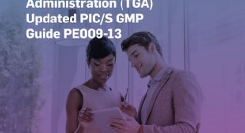 Understanding Australia's Therapeutic Goods Administration (TGA) Updated PIC/S GMP Guide PE009-13