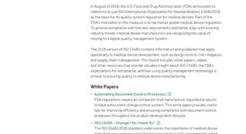 FDA/ISO Compliance Toolkit