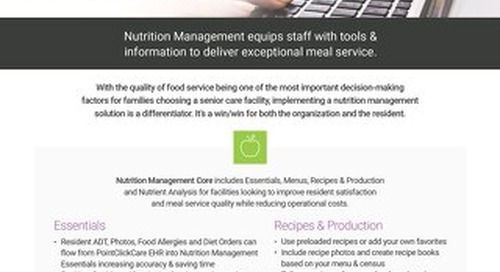 Nutrition Management - Solution Sheet