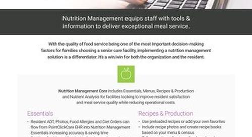 Nutrition Management: Solution Sheet